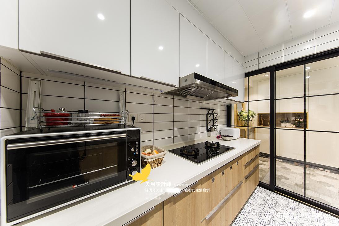 明亮75平北欧三居厨房实拍图