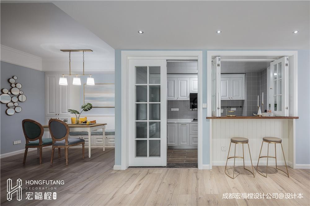 明亮100平美式三居厨房装饰美图
