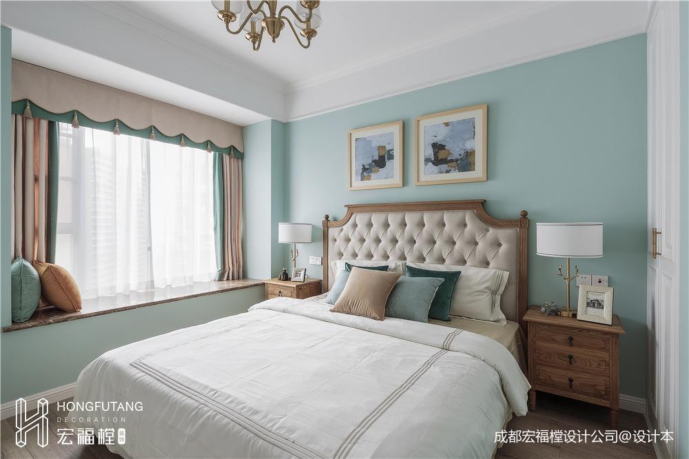 悠雅125平美式三居卧室效果图片大全