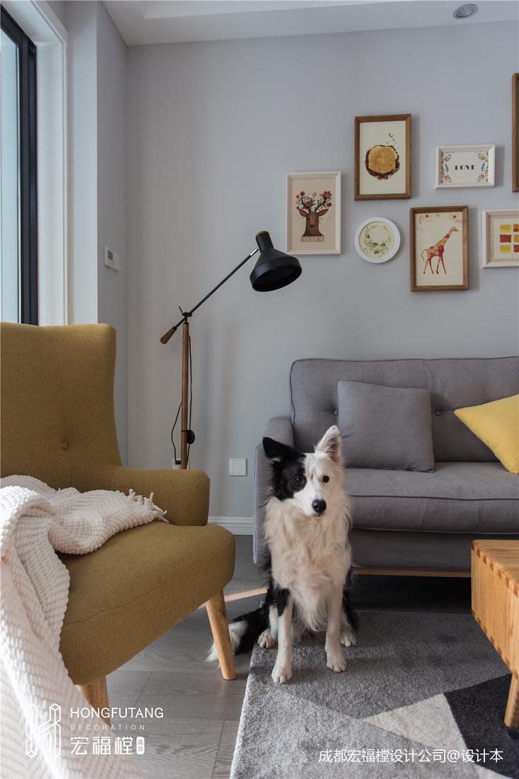 优美114平北欧三居客厅布置图