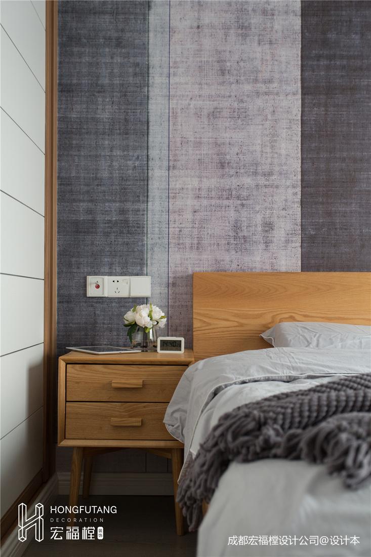 优雅86平北欧三居卧室效果图片大全