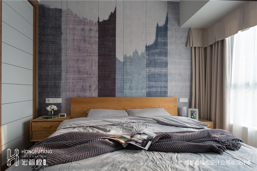 华丽104平北欧三居卧室装修美图