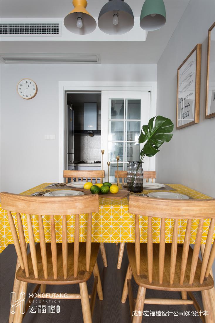 温馨127平北欧三居餐厅装饰图片