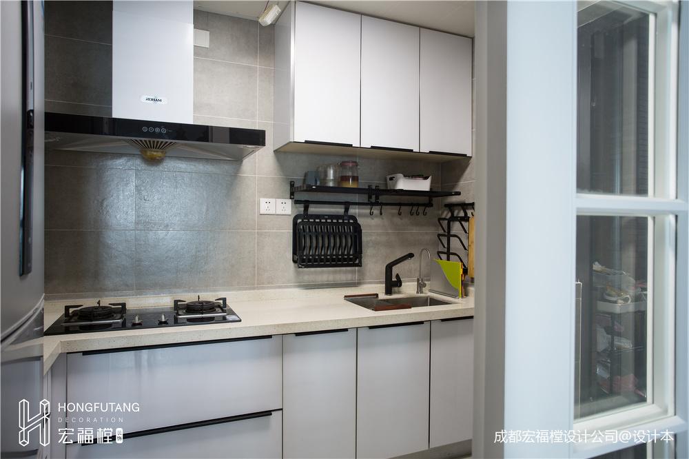 简洁104平北欧三居厨房装修图