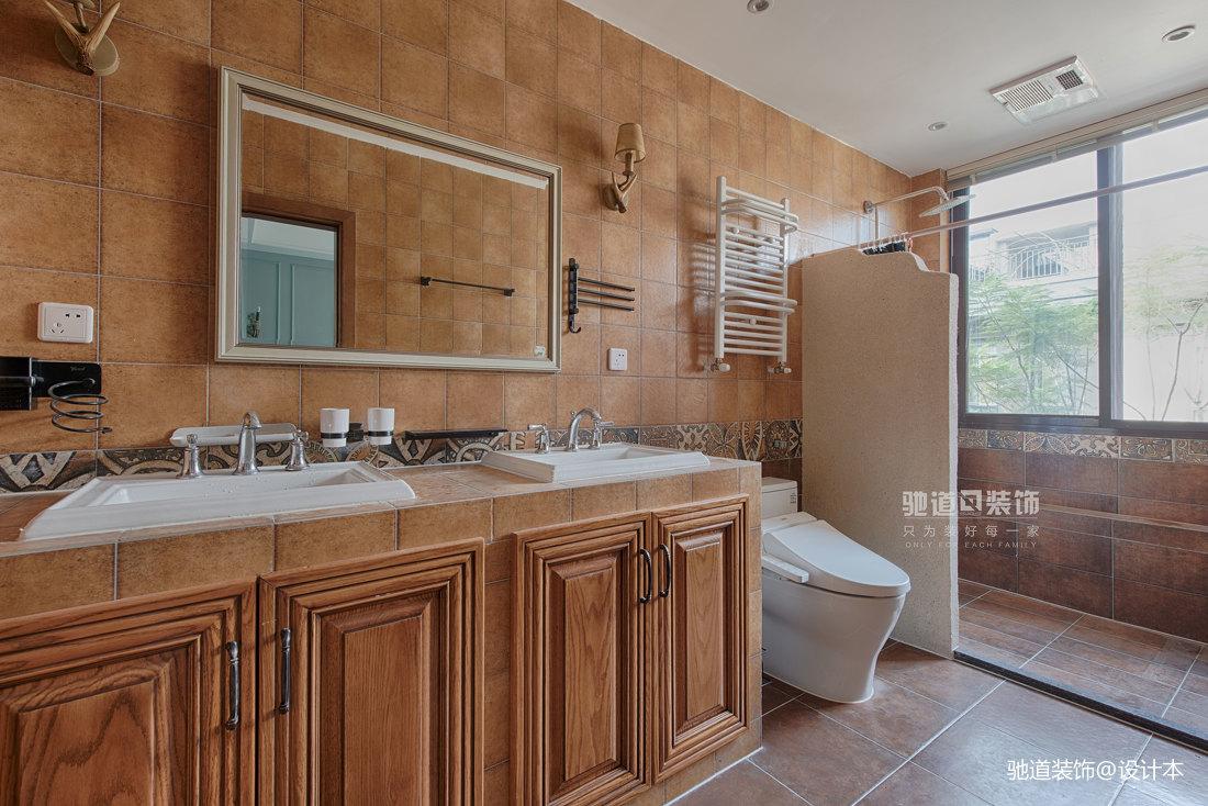 优美543平法式别墅卫生间装修图