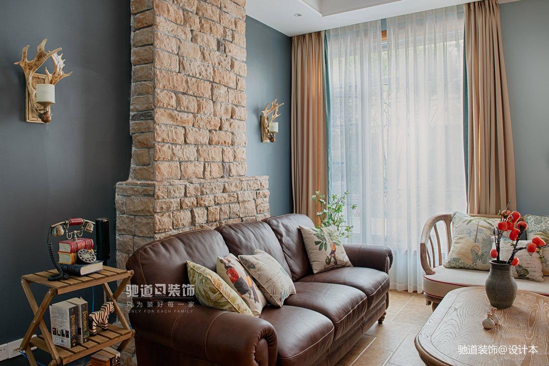 典雅289平法式別墅客廳效果圖
