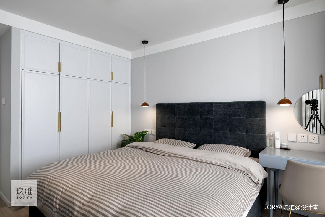 简洁39平北欧小户型卧室装潢图