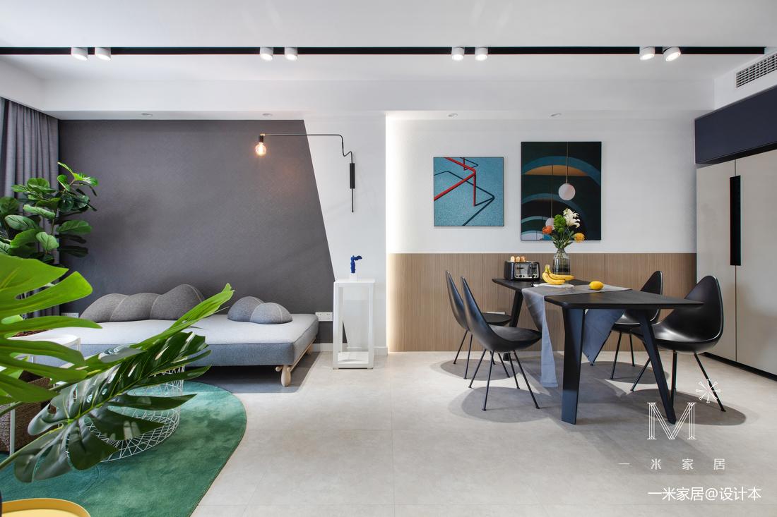 明亮63平现代二居客厅设计案例