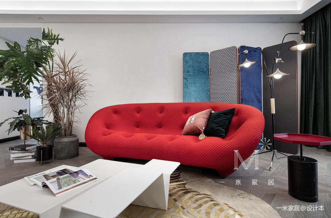 华丽71平现代三居客厅设计图