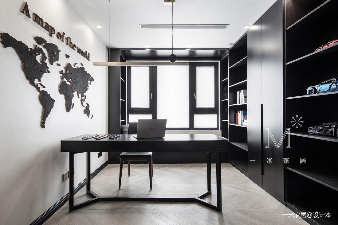 质朴125平现代三居书房装饰图片