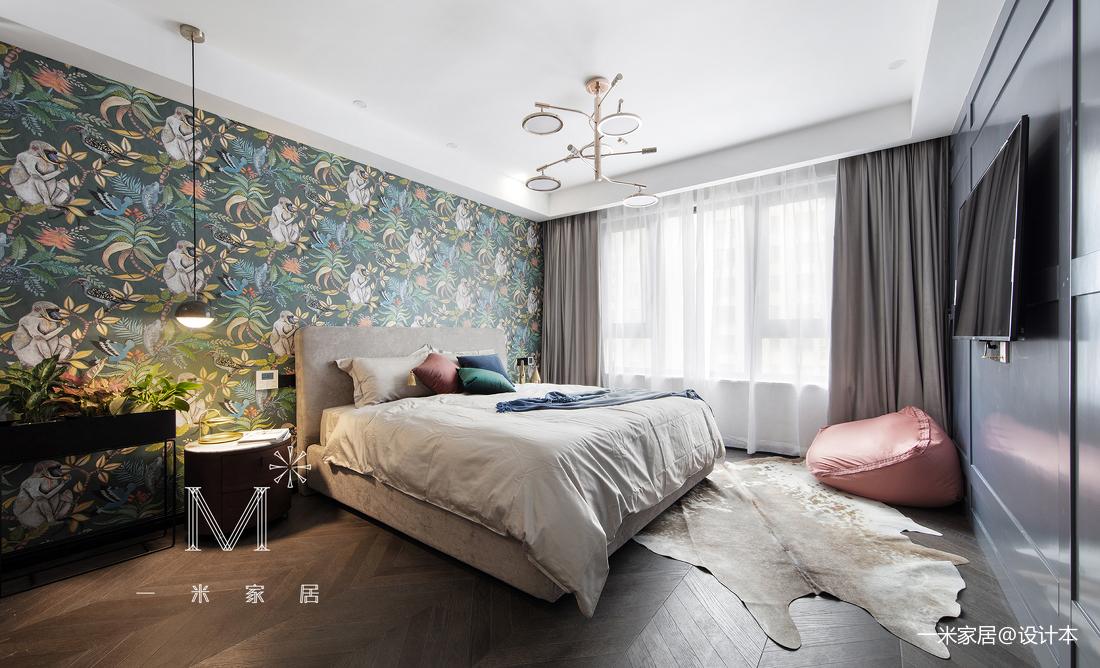 优美100平现代三居卧室图片欣赏