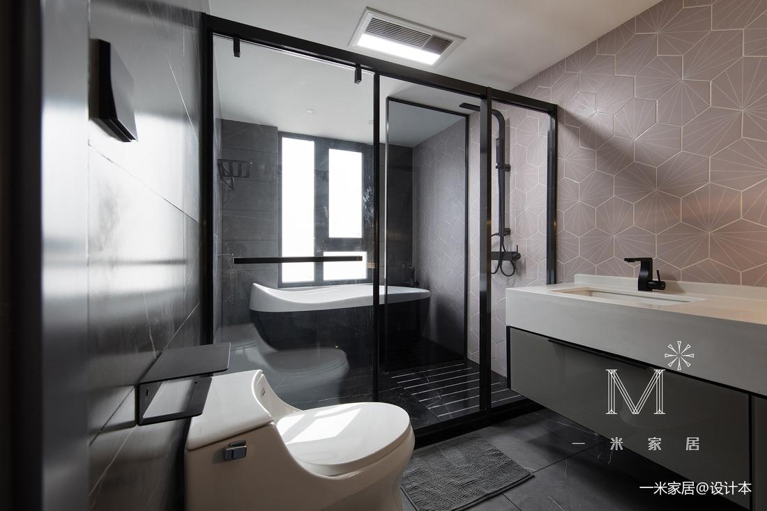 温馨74平现代三居卫生间装饰图