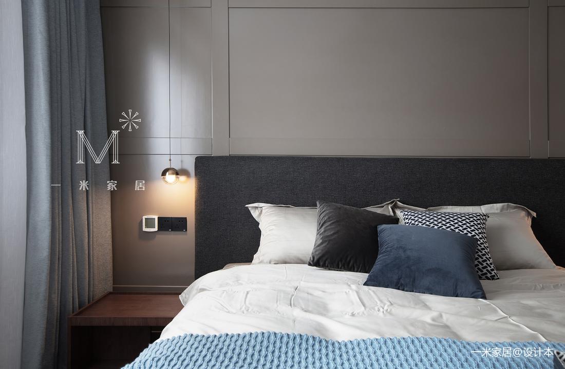 大气100平现代三居卧室效果图