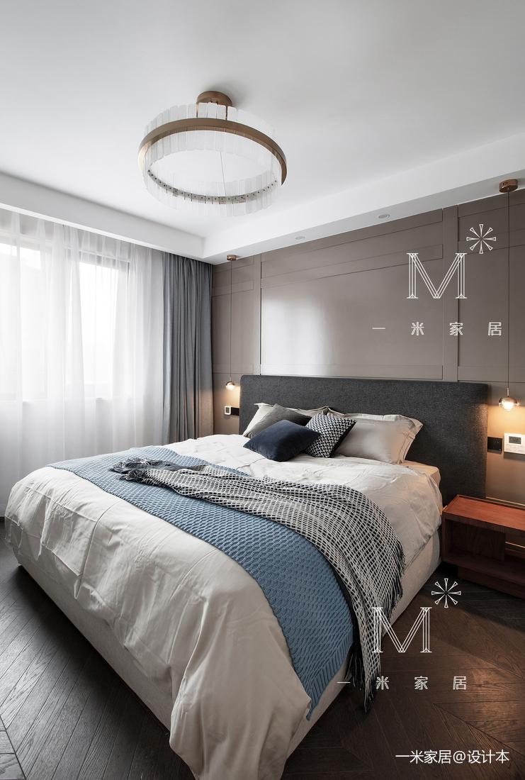 简洁122平现代三居卧室布置图