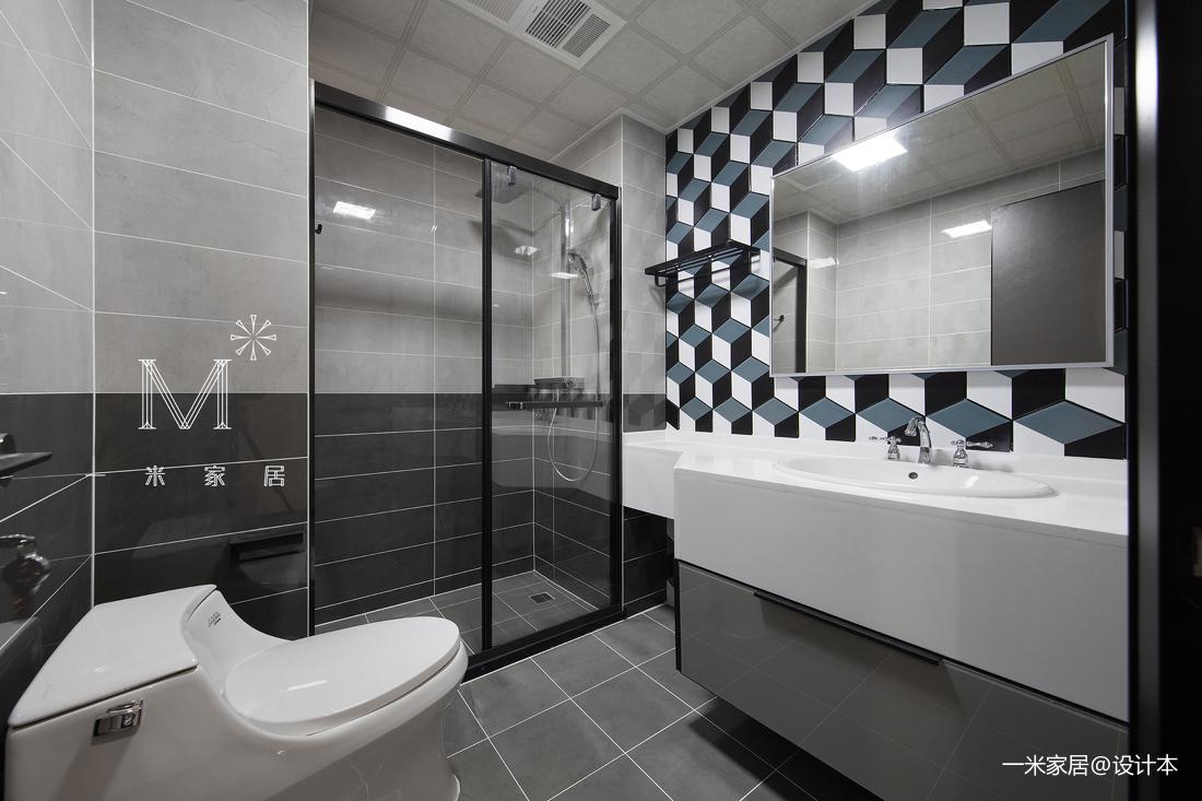 温馨76平现代三居卫生间装修装饰图