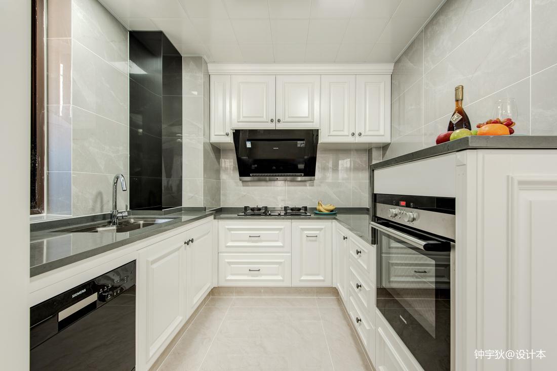温馨111平美式三居厨房设计案例