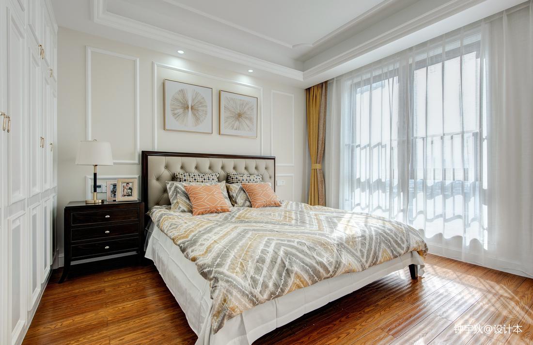 温馨121平美式三居卧室装修图片