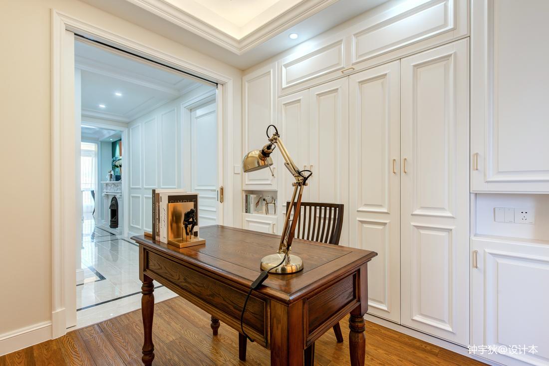 优美96平美式三居书房装修案例