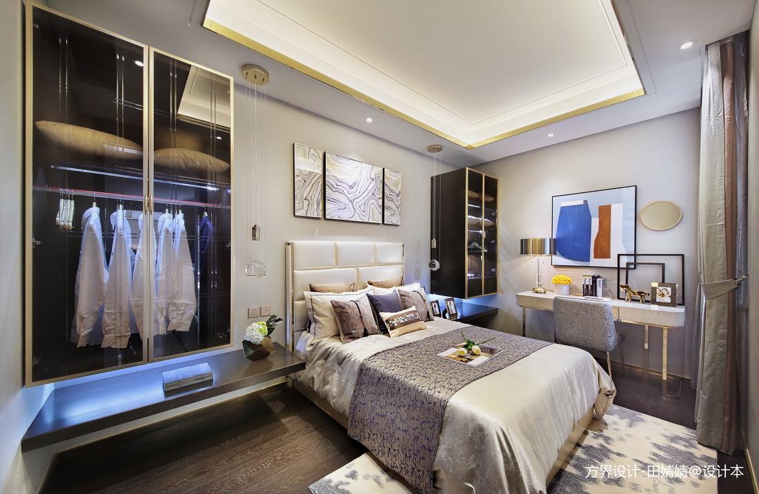 现代样板房客卧实景图