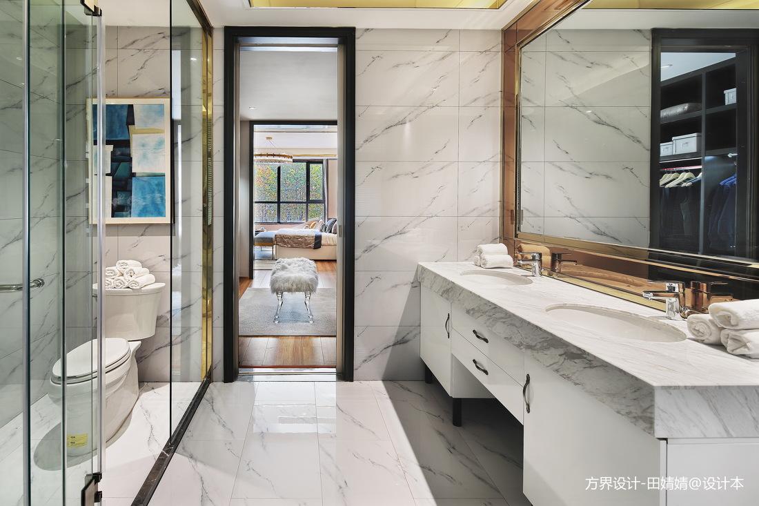 现代样板房卫浴实景图片