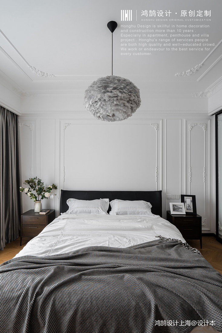 典雅100平北欧四居卧室装修图片