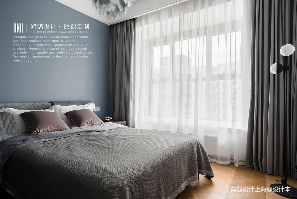 2019114平北欧四居卧室装修图
