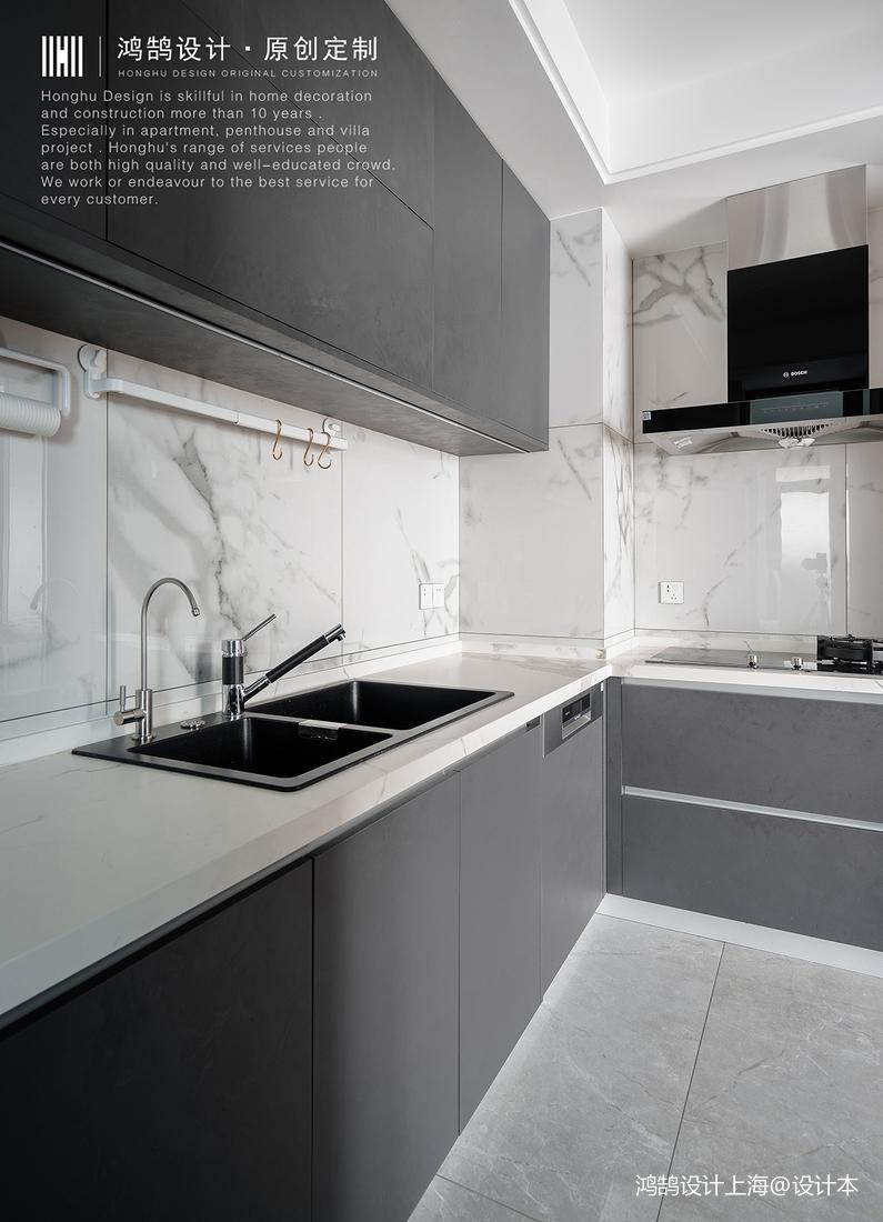 优雅103平北欧四居厨房实景图片