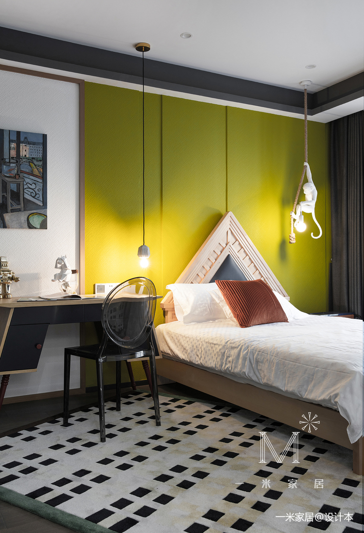 典雅72平现代二居儿童房装饰图片