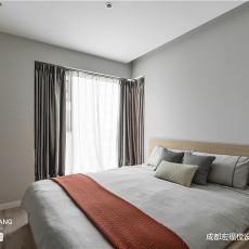温馨91平现代三居卧室装饰图