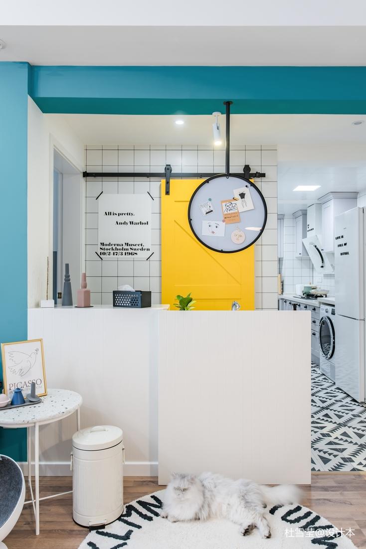 温馨84平北欧二居客厅设计案例