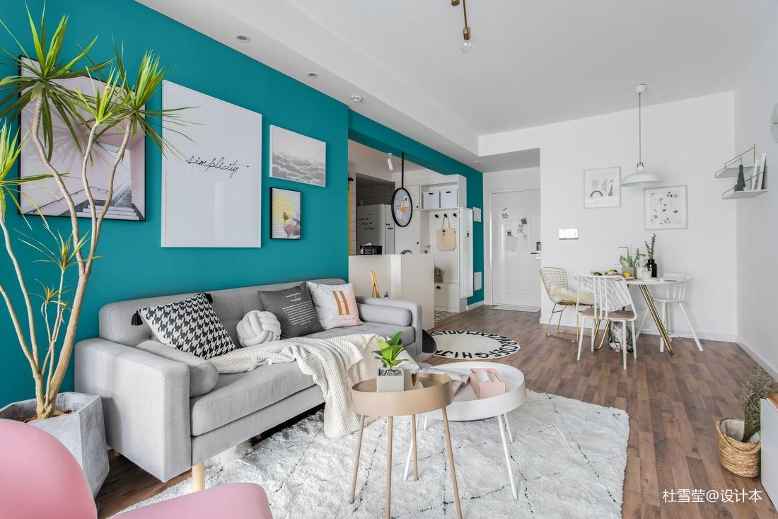 温馨62平北欧二居客厅装潢图