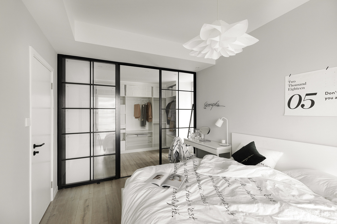 201929平北欧小户型卧室装修设计图