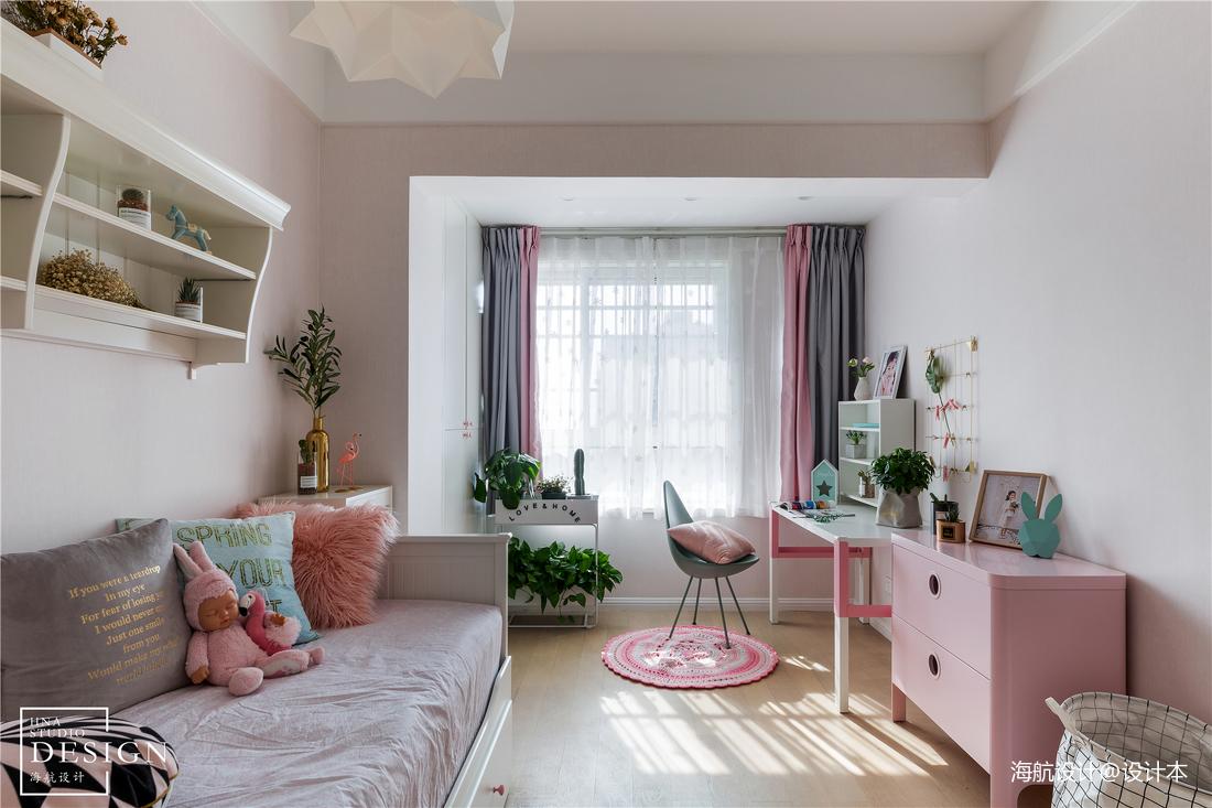 优雅77平北欧三居儿童房装修图片