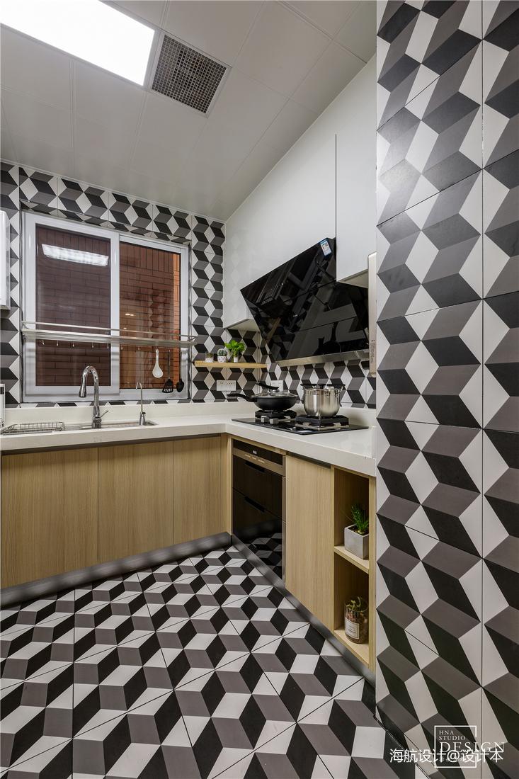 粉色浪漫北欧风厨房设计图