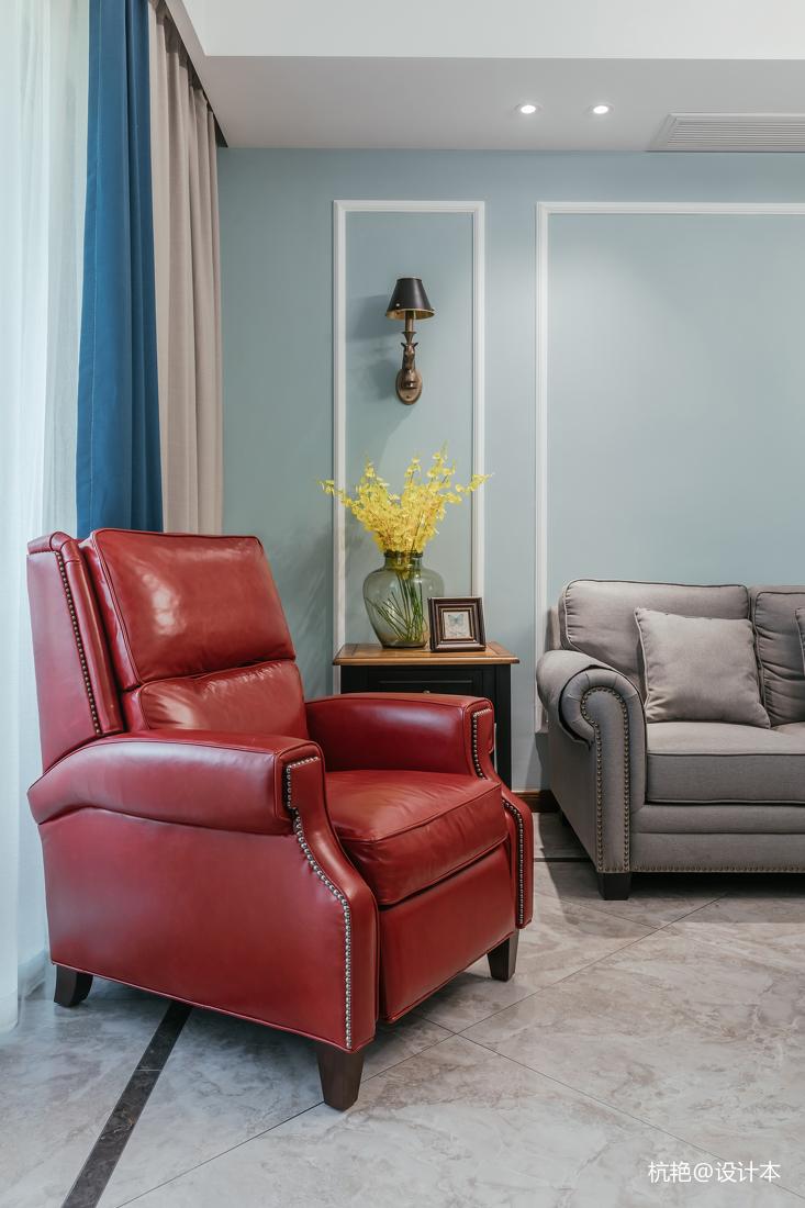 精致107平美式四居客厅装修设计图