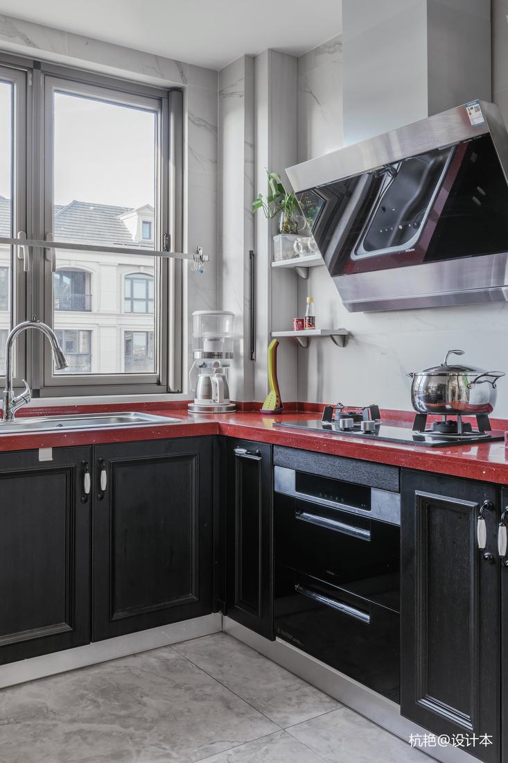 质朴127平美式四居厨房装修图片