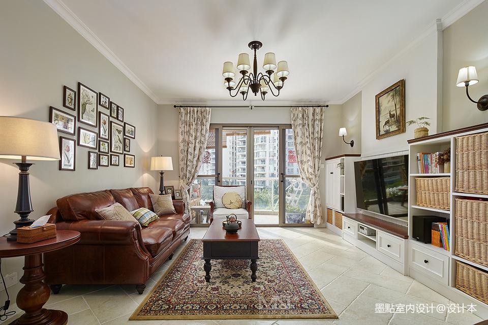 浪漫106平美式三居客厅装饰美图