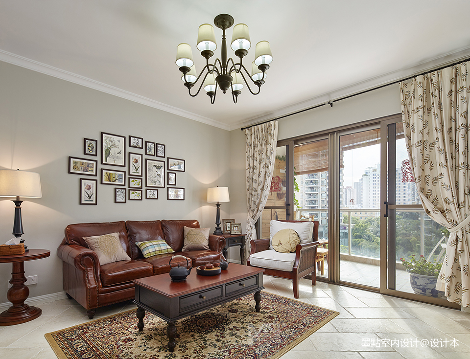 质朴112平美式三居客厅效果图