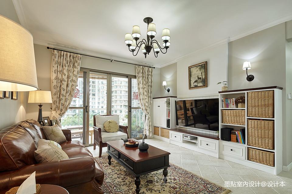 精致106平美式三居客厅装修设计图