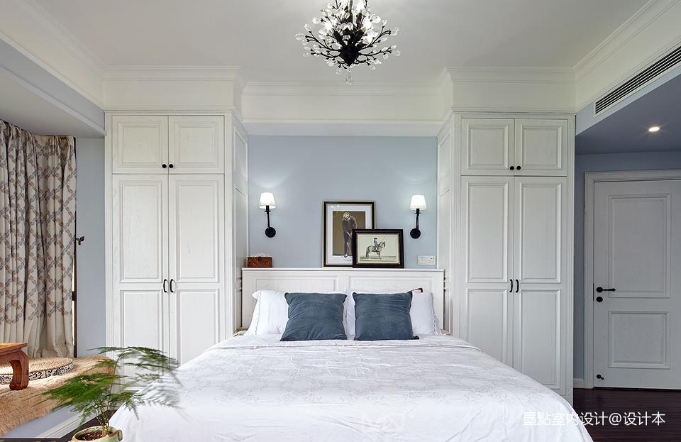 华丽115平美式三居卧室设计案例