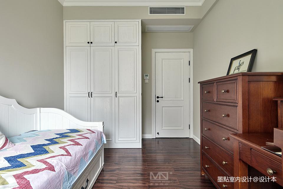 典雅87平美式三居卧室案例图