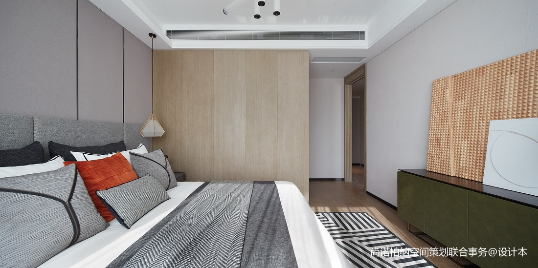 质朴960平现代别墅卧室设计效果图