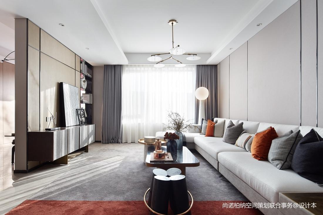 优雅948平现代别墅客厅设计图