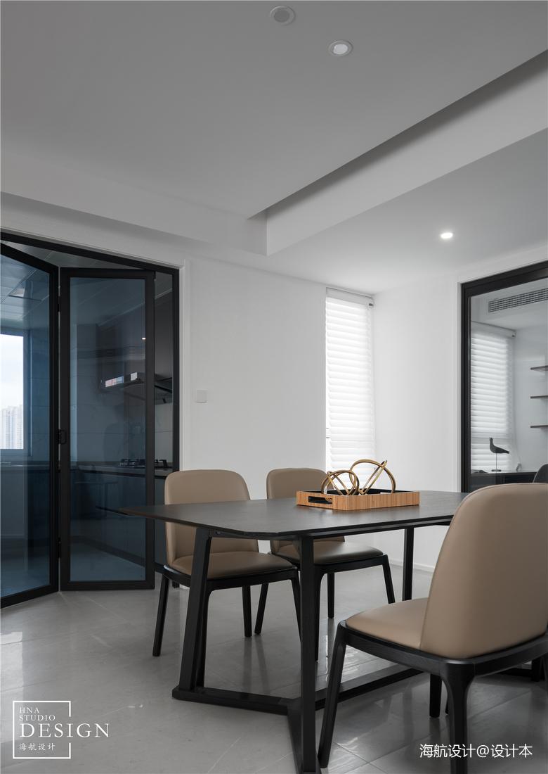 極簡空間現代餐廳實景圖