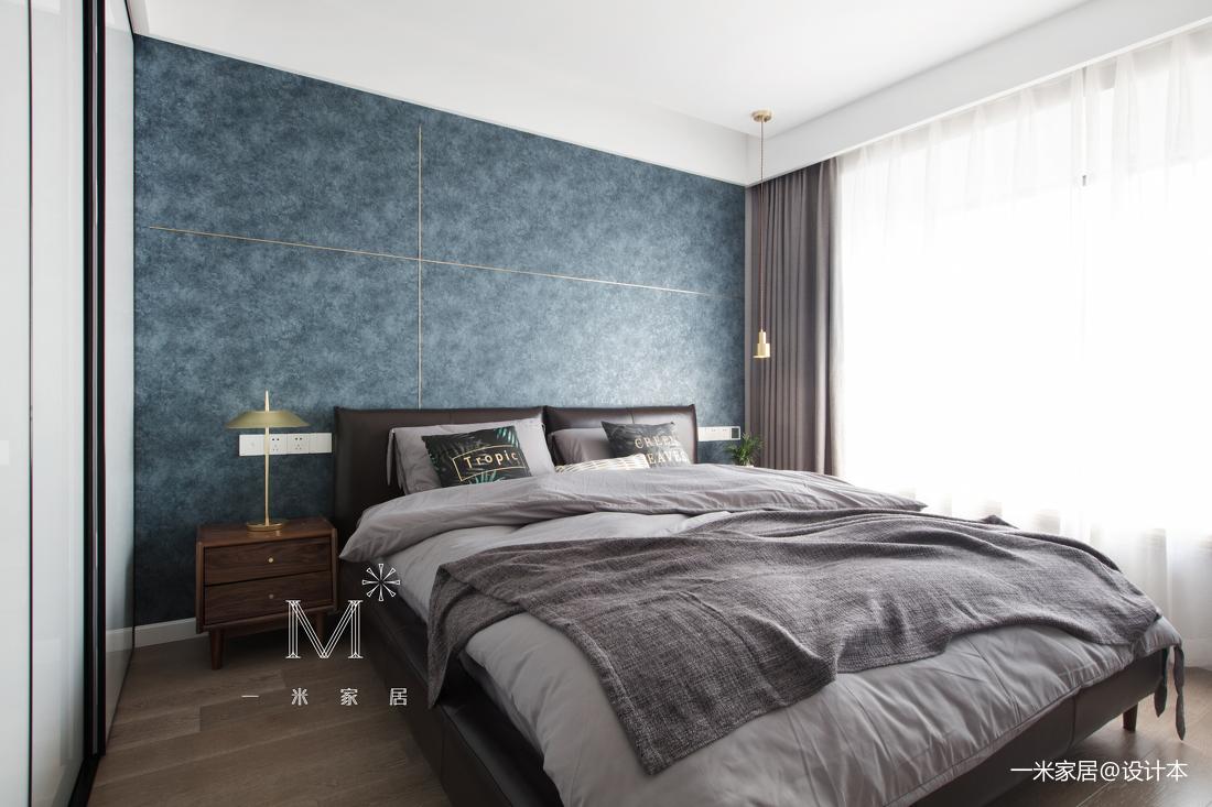 简洁96平现代三居卧室装饰图片