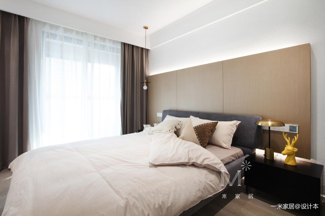大气98平现代三居卧室装修装饰图