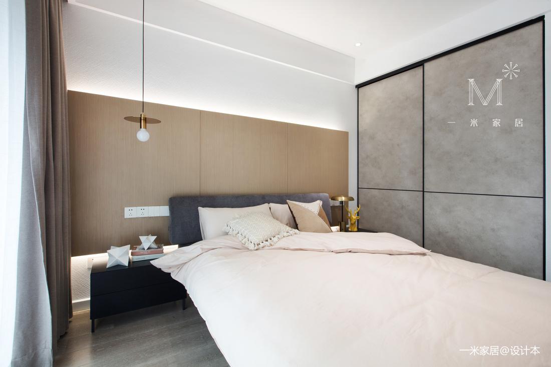 质朴104平现代三居卧室布置图