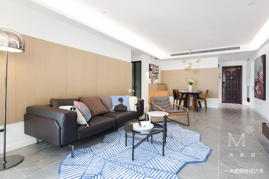 悠雅101平现代三居客厅设计案例