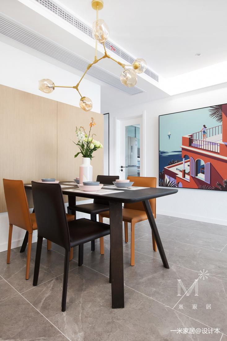 温馨97平现代三居餐厅装修美图
