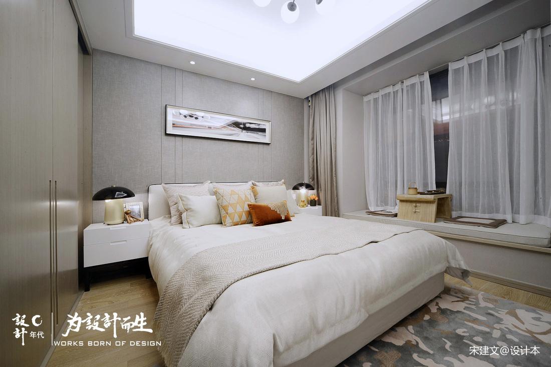 质朴82平北欧三居卧室设计效果图